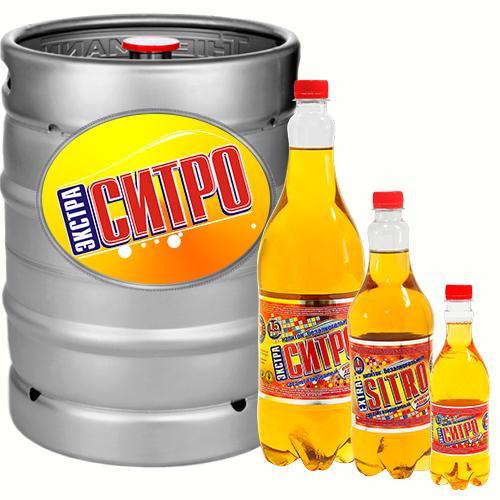 Напиток безалкогольный ароматизированный среднегазированный на сахарном сиропе «Экстра-ситро»